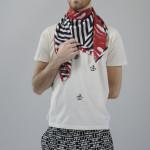 Enrico: T-shirt V V Kidz, pantaloni/trousers Yezael by Angelo Cruciani, foulard/scarf SCI'M for webelieveinstyle.maison