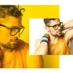 Mesh tank top and armband vintage Archivio Guerrini, glasses Tom Ford Eyewear by Marcolin (preview f/w collection)